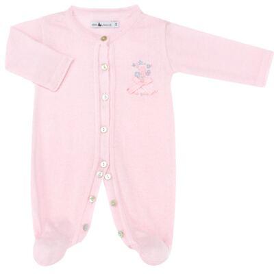 Imagem 2 do produto Macacão longo c/ Body regata para bebe em tricot Liberty - Mini Sailor - 17344441 Macacão Longo c/ Body Tricot Rosa-NB
