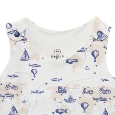 Imagem 2 do produto Macacão regata para bebe em algodão egípcio Bon Voyage - Bibe - 41D40-H56 BANHO DE SOL MASC BON VOYAGE-GG