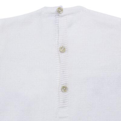 Imagem 3 do produto Macacão longo para bebe em tricot Navy - Mini Sailor - 21744260 MACAO RECORTE E LACINHOS TRICOT BRANCO-NB