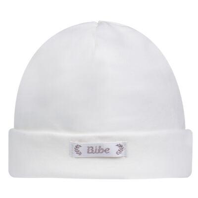 Imagem 1 do produto Touca para bebe em algodão egípcio Branca - Bibe - 10Y05-01 TOUCA BAS CRISTAL BRANCA -P