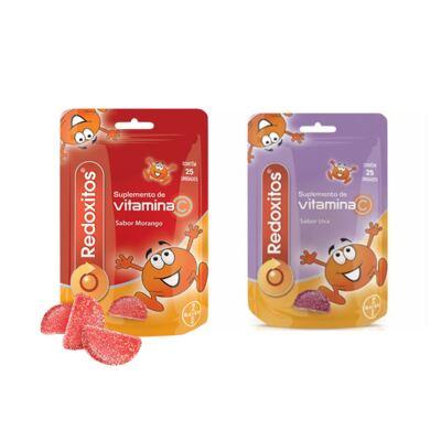 Imagem 1 do produto Redoxitos Uva Bayer 25 Unidades + Redoxitos Morango Bayer 25 Unidades