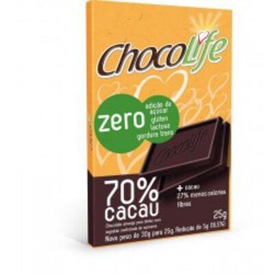 Imagem 1 do produto Barra de Chocolate Chocolife Amargo 70% Cacau 25g
