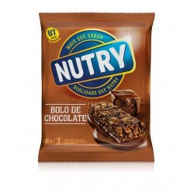 Imagem 1 do produto Barra de Cereal Nutry Bolo de Chocolate C/ 3 Unidades