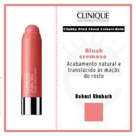Chubby Stick Cheek Colours Balm Clinique - Blush - Robust Rhubarb