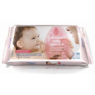 Imagem 1 do produto Lenço Umedecido Johnson´s Baby Skin Care - 48 Unidades