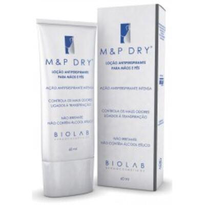 Imagem 1 do produto Antiperspirante Loção para Mãos e Pés M&P Dry - 60ml