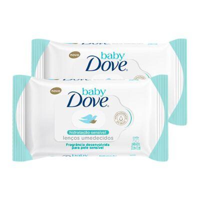 Imagem 1 do produto Kit Lenço Umedecido Dove Baby Hidratação Sensível 100 Unidades