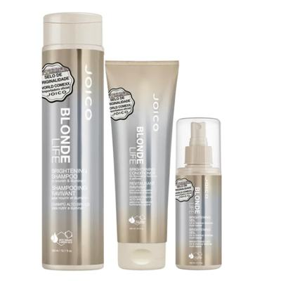 Joico Blonde Life Brightening Kit - Leave-In + Condicionador + Shampoo - Kit