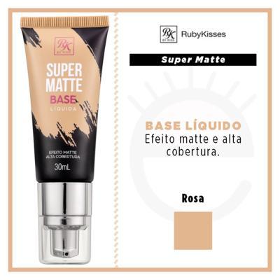 Imagem 4 do produto Base Líquida RK by Kiss - Super Matte - Rosa