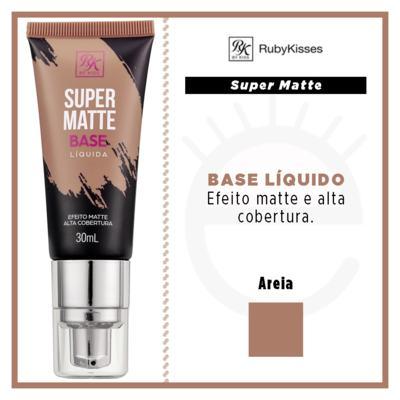 Imagem 4 do produto Base Líquida RK by Kiss - Super Matte - Areia
