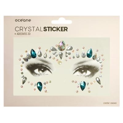 Imagem 1 do produto Adesivo Facial Océane - Crystal Sticker 3D S5 - 1 Un