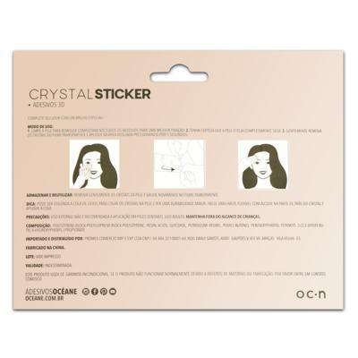 Imagem 2 do produto Adesivo Facial Océane - Crystal Sticker 3D S5 - 1 Un