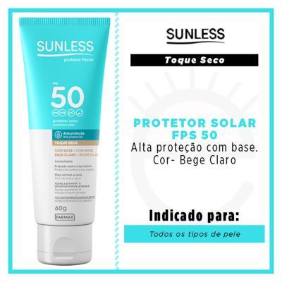 Imagem 4 do produto Protetor Solar Facial com Cor FPS50 Sunless - Bege Claro