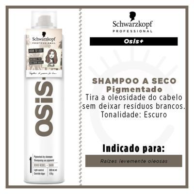 Imagem 2 do produto OSiS+ Boho Rebel Schwarzkopf - Shampoo a Seco Cabelo Castanho Escuro - 300ml