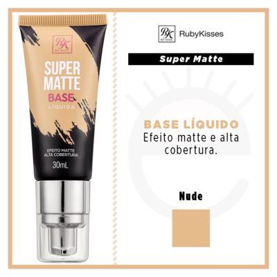 Imagem 4 do produto Base Líquida RK by Kiss - Super Matte - Nude