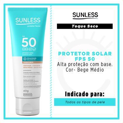 Imagem 4 do produto Protetor Solar Facial com Cor FPS50 Sunless - Bege Médio
