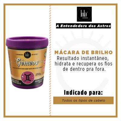 Imagem 2 do produto Lola Cosmetics A Entendedora dos Astros Gêmeos - Máscara de Hidratação Universal - 230g