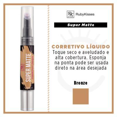 Imagem 4 do produto RK by Kiss Corretivo Líquido Super Matte - Bronze