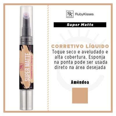 Imagem 4 do produto RK by Kiss Corretivo Líquido Super Matte - Amêndoa