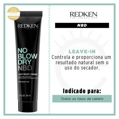 Imagem 2 do produto Redken No Blow Dry Just Right Cream - Leave In Travel Size - 30ml