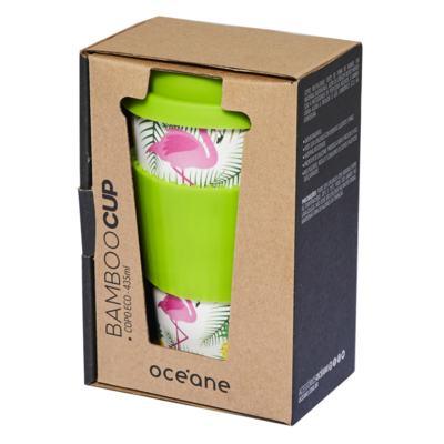 Imagem 2 do produto Copo Eco Océane - Bamboo Cup Flamingos - 1 Un