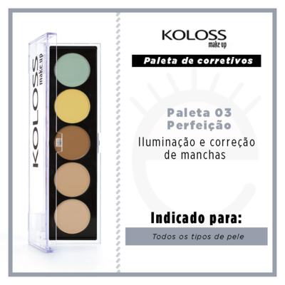Imagem 4 do produto Paleta de Corretivo Camuflagem Koloss - 03 Perfeição - 1 Un