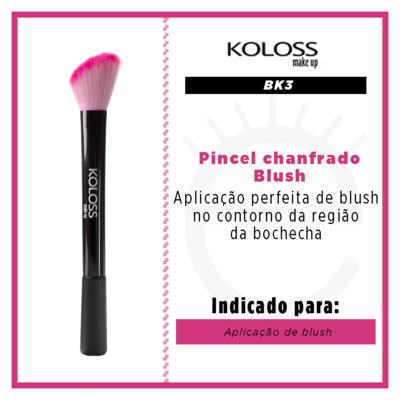 Imagem 2 do produto Pincel Chanfrado para Blush Koloss - 1 Un