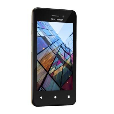 Imagem 4 do produto Smartphone Multilaser MS40S Preto/Dourado 4 Pol. Câmera 2 MP + 5 MP 3G Quad Core 8GB Android 6.0 - NB702 - NB702
