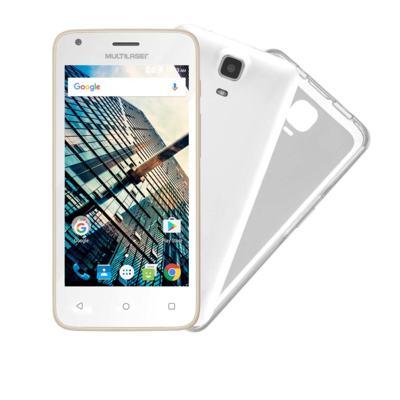 Smartphone Multilaser MS45S Dourado Tela 4.5 Pol. Câmera 3 MP + 5 MP 3G Quad Core 8GB 1GB Android 6 - NB703 - NB703