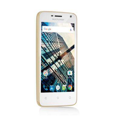 Imagem 2 do produto Smartphone Multilaser MS45S Dourado Tela 4.5 Pol. Câmera 3 MP + 5 MP 3G Quad Core 8GB 1GB Android 6 - NB703 - NB703