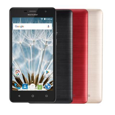 "Smartphone MS50S 3G tela 5"" dual câmera 5MP+8MP Android 6.0 Multilaser preto - NB262 - NB262"