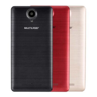 "Imagem 2 do produto Smartphone MS50S 3G tela 5"" dual câmera 5MP+8MP Android 6.0 Multilaser branco - NB263 - NB263"