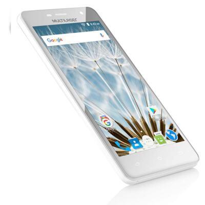 "Imagem 9 do produto Smartphone MS50S 3G tela 5"" dual câmera 5MP+8MP Android 6.0 Multilaser branco - NB263 - NB263"