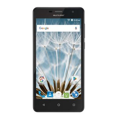 "Imagem 3 do produto Smartphone MS50S Colors 3G Tela IPS de 5"" Android 6 Dual Câmera 5+8MP Multilaser Preto - NB704 - NB704"