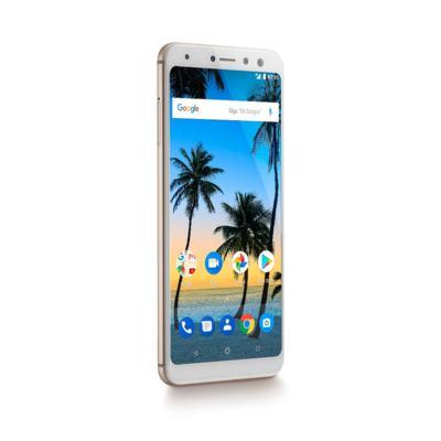 """Imagem 6 do produto Smartphone Multilaser MS80 4GB RAM + 64GB Tela 5,7"""" HD+ Android 7.1 Qualcomm Dual Câmera 20MP+8MP Dourado - P9067 - P9067"""
