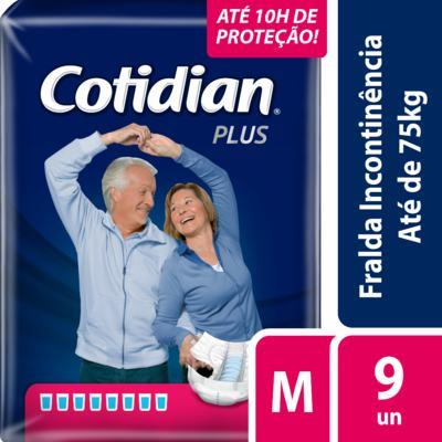 Imagem 2 do produto Fralda Geriátrica Cotidian Plus Noturna M 9 unidades