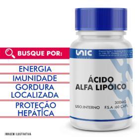 Ácido alfalipóico 300mg - 30 Cápsulas