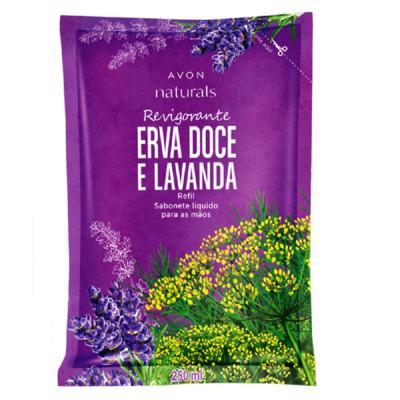 Imagem 1 do produto Sabonete Líquido para Mãos Refil Naturals Erva Doce e Lavanda - 250 ml