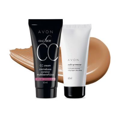 Imagem 1 do produto Kit CC Cream Mel FPS50 e Removedor de maquiagem dos olhos