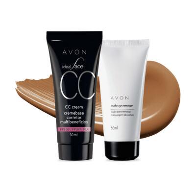 Imagem 1 do produto Kit CC Cream Caramelo FPS50 e Removedor de maquiagem dos olhos