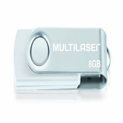 Imagem 1 do produto Pendrive Multilaser Twist Branco 8GB - PD887 - PD887