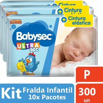 Imagem 2 do produto Kit Fralda Babysec Galinha Pintadinha Ultra Jumbo P 300 unidades