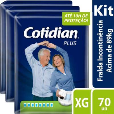 Imagem 2 do produto Kit Fralda Geriátrica Cotidian Plus XG 70 unidades