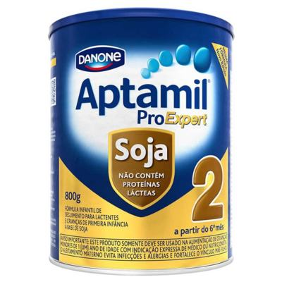 Kit Aptamil 2 Soja 800g 6 unidades