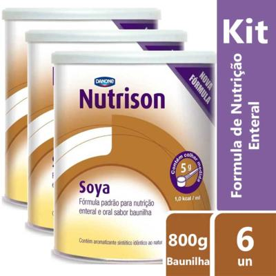Imagem 2 do produto Kit Nutrison Soya Baunilha 6 unidades de 800g