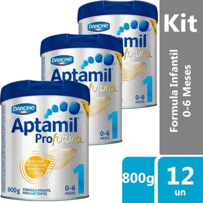 Imagem 2 do produto Kit Aptamil Profutura 1 Fórmula Infantil 800g 12 unidades