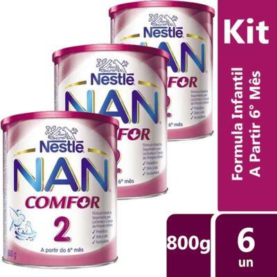 Imagem 2 do produto Kit Nan Comfor 2 800g 6 unidades