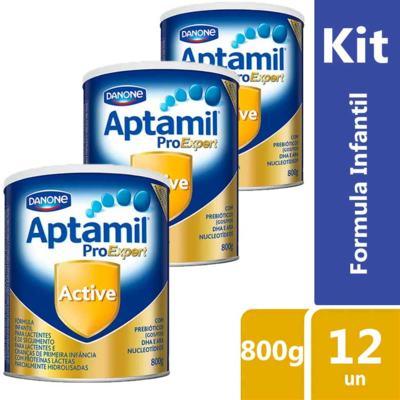 Imagem 2 do produto Kit Aptamil Active Fórmula Infantil 800g 12 unidades