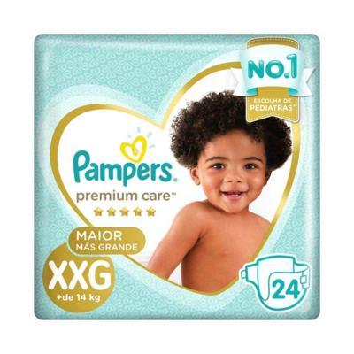 Imagem 1 do produto Kit Fralda Pampers Premium Care Tamanho XXG Pacote Mega 192 unidades