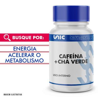 Cafeína 300mg + Chá Verde 250mg - 120 Cápsulas